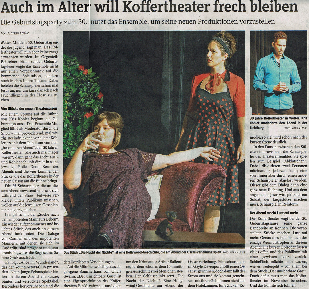 30 Jahre Koffertheater-Ensemble