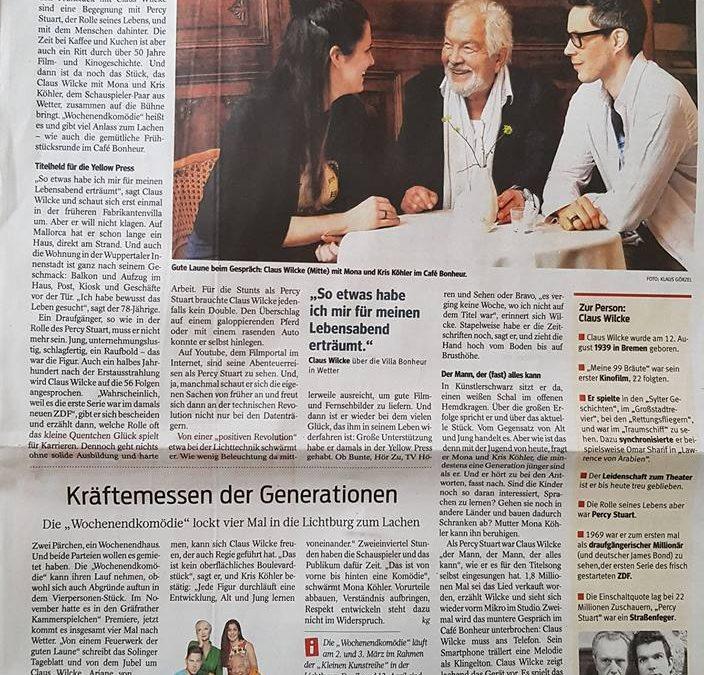 WAZ über Mona und Kris mit Claus Wilcke